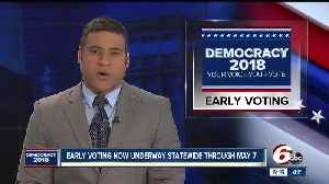 News video: Early voting begins for Indiana's May 8 primary election