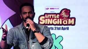 News video: Rohit Shetty Chit Chat With Media Persons Kids Little Singham Animation Movie Launch