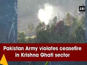 News video: Pakistan Army violates ceasefire in Krishna Ghati sector