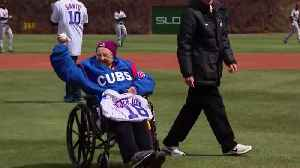 News video: March Madness sensation Sister Jean throws first pitch at Cubs game
