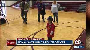 News video: 6-year-old boy who diagnosed with cancer for the third time sworn in as officer