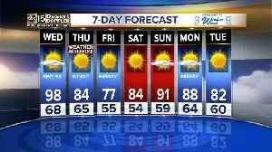 News video: Record breaking heat could be in store for Wednesday