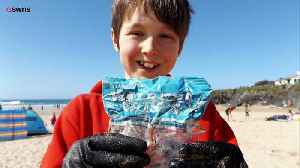 News video: Beach Cleaning Volunteers Stunned to Find Pack of Walkers Crisps Dating Back 30 Years