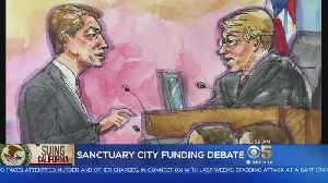 News video: SANCTUARY CITIES: Court hears of appeal by Trump administration of ruling that federal funds cannot be withheld