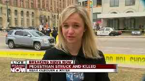 News video: Milwaukee Fire: Pedestrian killed in downtown collision