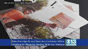 News video: To Protest Gun Violence, A California High School's Magazine Has A Physical Bullet Hole