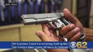 News video: Local Gun Owners Have Taken Their Case To The Michigan Supreme Court To Lift Gun Restrictions