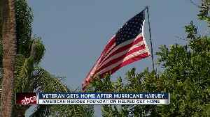 News video: Veteran who lost everything to Hurricane Harvey being gifted a new home