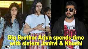 News video: Big Brother Arjun taking out time for sisters Janhvi & Khushi