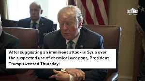 News video: Trump: Attack On Syria 'Could Be Very Soon Or Not So Soon At All'