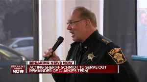 News video: Gov. Walker: Acting Milwaukee Sheriff Schmidt serve out Clarke's term