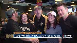 News video: Fans watch Golden Knights playoff game at City National Arena