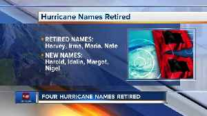 News video: Hurricane names Harvey, Irma, Maria and Nate being retired after devastating 2017 storm season
