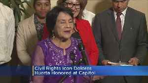 News video: Civil Rights Icon Dolores Huerta Honored At State Capitol