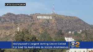 News video: SAG-AFTRA Calls For An End To Auditions In Hotel Rooms, Homes
