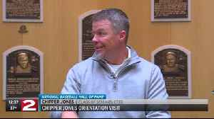 News video: Chipper Jones visits Baseball Hall of Fame