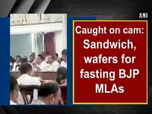 News video: Caught on cam: Sandwich, wafers for fasting BJP MLAs