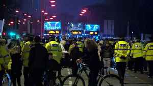 News video: Police called as protesters demand release of terminally ill