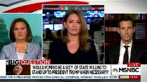 News video: MSNBC Host Justifies Booker Badgering Of Pompeo Beliefs On Gay Marriage