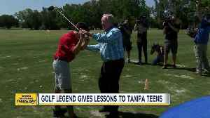 News video: Golf legend Jack Nicklaus gives Tampa students some lessons on golf and life