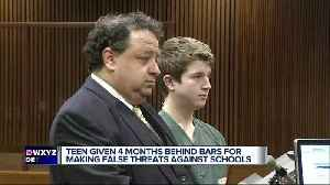 News video: Teen who made threats sentenced to 3 months