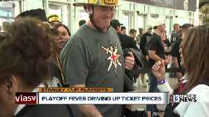 News video: Golden Knights ticket prices on the rise as playoff fever spreads