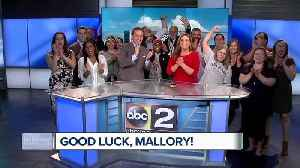 News video: Good Morning Maryland wishes Mallory good luck at the Boston Marathon