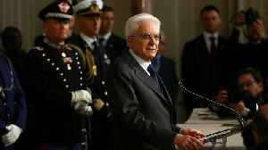 News video: Italy's political parties fail to end stalemate. Persident Sergio Mattarella says forming a coalition government is a matter of