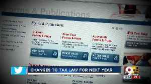 News video: Changes to tax law for next year