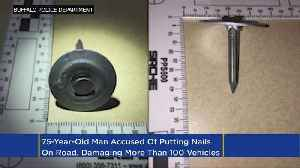News video: Charges: Man Spread Nails On Road To Punish Speeding Drivers