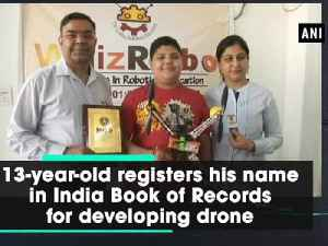 News video: 13-year-old registers his name in India Book of Records for developing drone