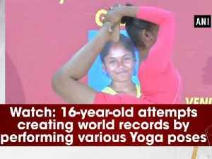 News video: Watch: 16-year-old attempts creating world records by performing various Yoga poses