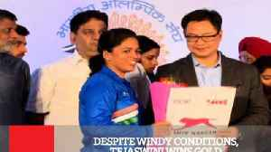 News video: Despite Windy Conditions, Tejaswini Wins Gold
