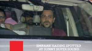 News video: Emraan Hashmi Spotted At Sunny Super Sound