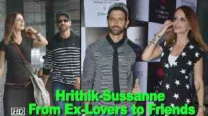 News video: From Ex-Lovers to Friends, Hrithik-Sussanne BOND once more