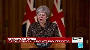 News video: British PM Theresa May calls Syria strikes