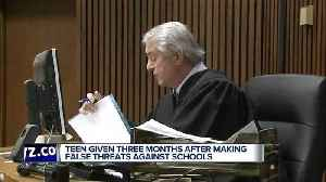 News video: Teen who made threats to Plymouth-Canton schools sentenced to 3 months in jail