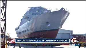 News video: The fourth military vessel to be named the USS Indianapolis to be christened Saturday