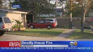 News video: Man Found Dead, Woman Rescued From Burning Lakewood Home