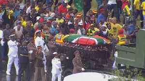 News video: Winnie Mandela funeral: Thousands attend ceremony in Soweto
