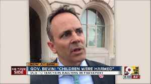 News video: Bevin claims 'children were harmed'