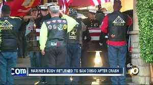 News video: Fallen Marine's body returned to San Diego