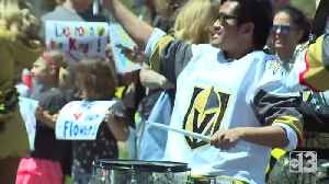 News video: Fans rally as Golden Knights head to Los Angeles for playoff game