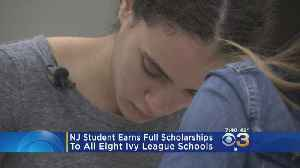 News video: NJ Student Earns Full Scholarships To All Eight Ivy League Schools