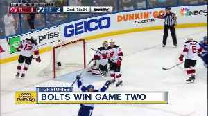 News video: Tampa Bay Lightning win game 2 against Devils
