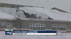 News video: Snowstorm causes hotel roof to collapse in Green Bay area