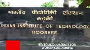 News video: IIT to Add 779 Seats For Women Candidates