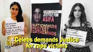 News video: JUSTICE for Asifa: celebs hit street for rape victims