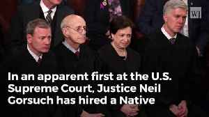 News video: Justice Gorsuch Made Supreme Court History With Brand New Hire For 2018 Term