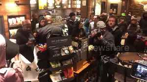 News video: Protesters in Philadelphia chant 'Starbucks coffee is anti-black'